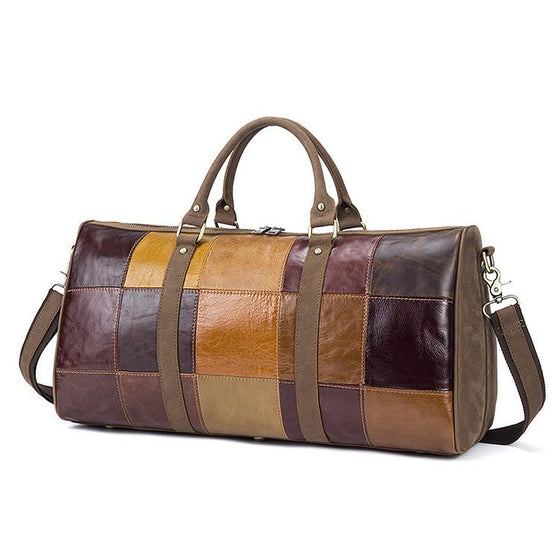 "Unisex 19"" Duffel Weekender Overnight Travel Bag - URBAN LEGEND LEATHER"
