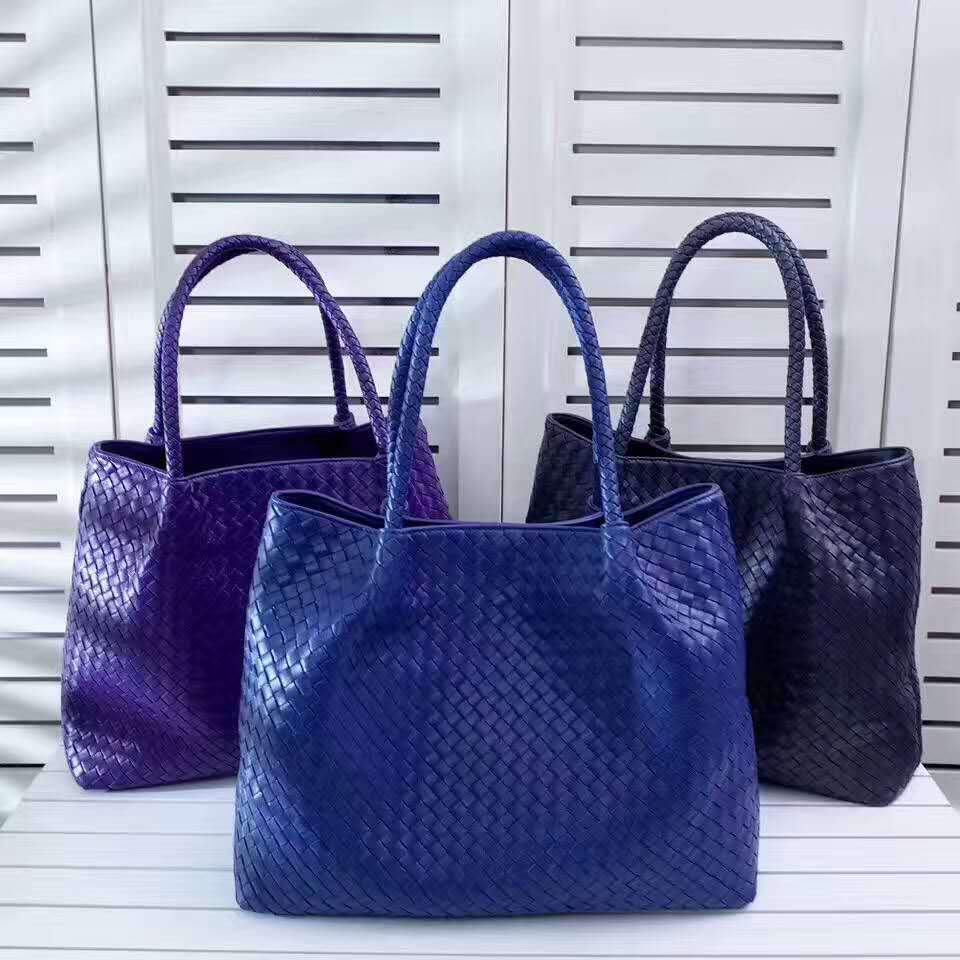 Women's Shoulder Style Woven Leather Tote For Women