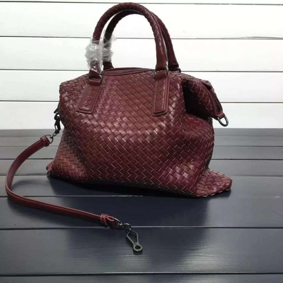 Womens Large Woven Style Tote Leather Bag With Shoulder Strap - URBAN LEGEND LEATHER
