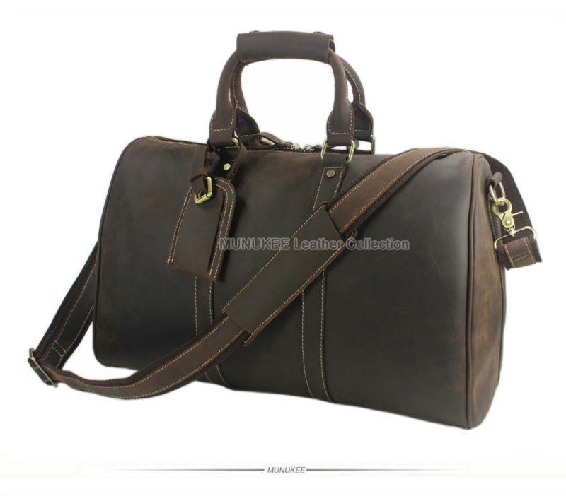 Mens Duffel Travel/Weekend Large Bag - URBAN LEGEND LEATHER