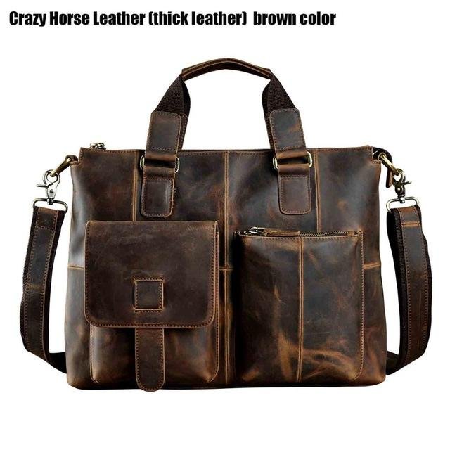 Mens Leather Men's Shoulder Bag With Outside Pockets - URBAN LEGEND LEATHER