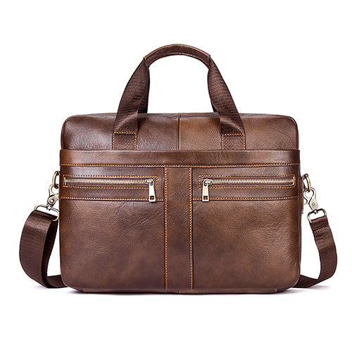 Mens Shoulder Bag With Carry Handle and Strap - URBAN LEGEND LEATHER