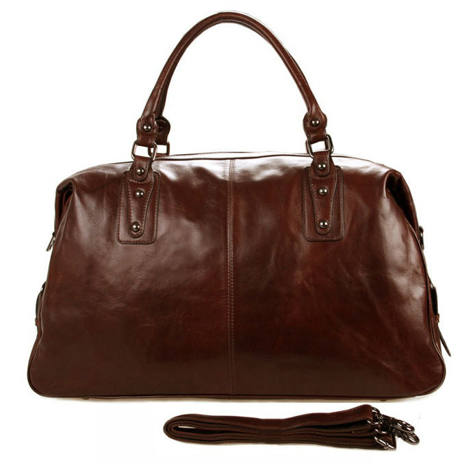 Smooth Leather Travel/Overnight/Weekend/Duffel Bag - URBAN LEGEND LEATHER