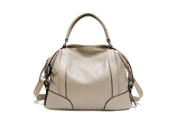 Womens Luxury Top Handle Crossbody Tote Leather Bag
