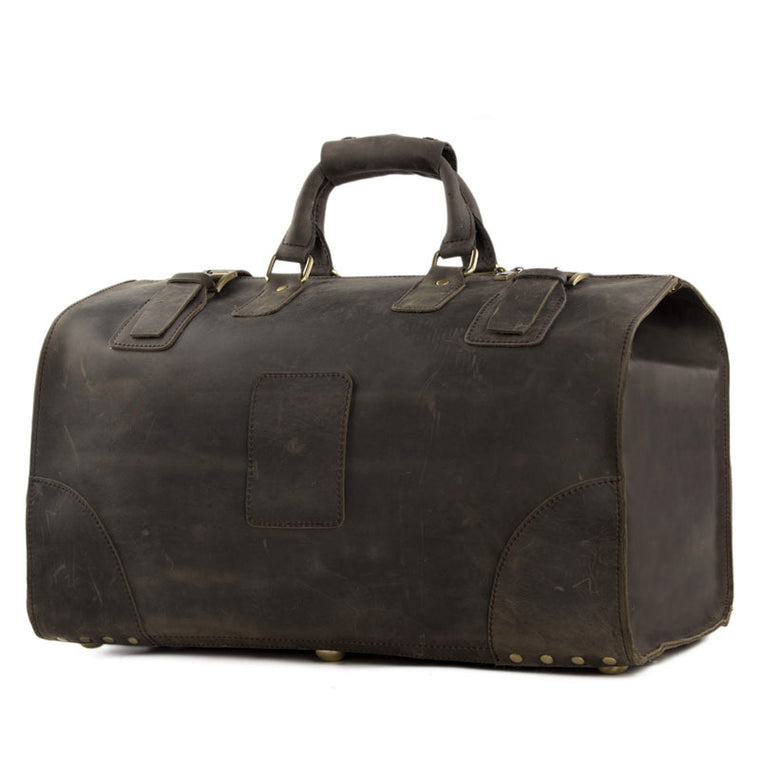 Mens/Womens Vintage Large Leather Travel Bag - URBAN LEGEND LEATHER