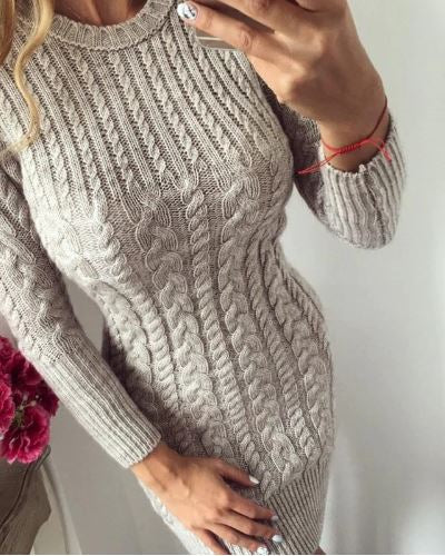 Club Dresses | Club Outfits | Party Dresses Dress, Autumn Winter Sweater Warm Knitted Dresses Slim Elastic - Clubbing Love