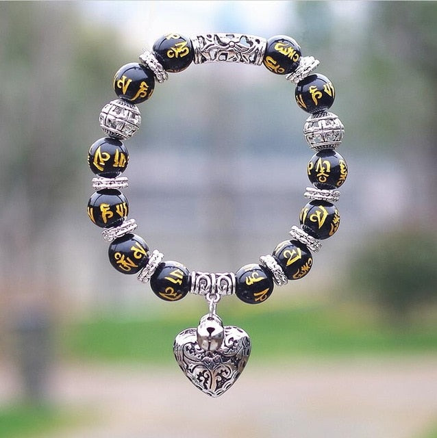 Club Dresses | Club Outfits | Party Dresses Opal Obsidian Tiger Eye Natural Stone Bracelet with Heart, 10mm Opal Obsidian Tiger Eye Natural Stone Bracelet with Heart Pendant Charms - Clubbing Love