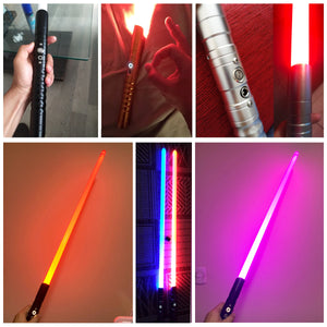 Club Dresses | Club Outfits | Party Dresses Lightsaber Metal Sword RGB Discoloration Laser Cosplay Toy Luminous Wars Toys Stick 11 Color, Lightsaber With Infinite LED Color Options(11), Multiple Sound Fonts, FOC, Wrapping Tape, And Heavy Dueling Support Build - Clubbing Love