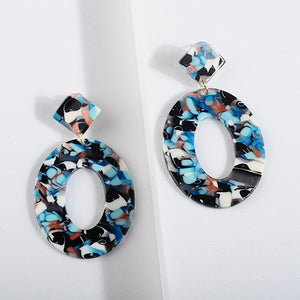 Club Dresses | Club Outfits | Party Dresses jewelry, Acrylic Resin Oval Dangle Earrings For Women Geometry Big Circle Tortoiseshell Earrings - Clubbing Love