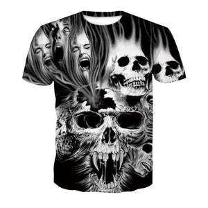 Club Dresses | Club Outfits | Party Dresses T-shirt, Skull Poker Unisex Galaxy 3D Digital Printed T Shirt Series - Clubbing Love