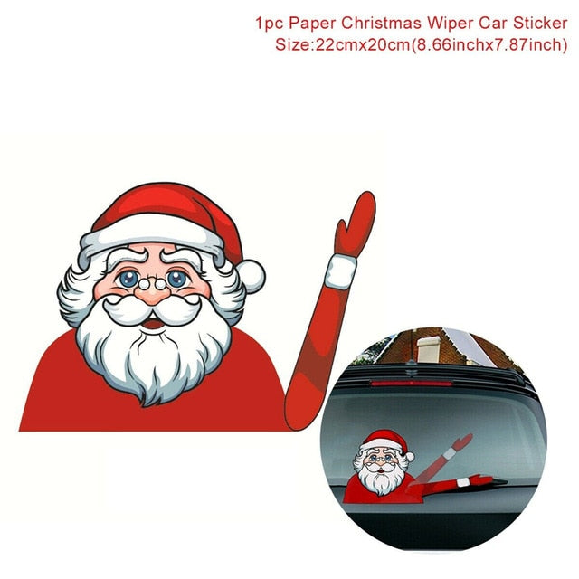 Club Dresses | Club Outfits | Party Dresses Christmas Waving Car Wiper Stickers, Christmas Waving Car Wiper Stickers by Clubbing Love ™️ - Clubbing Love