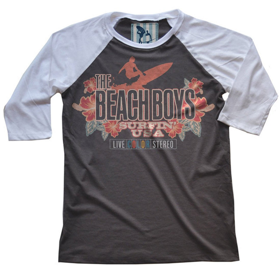 Club Dresses | Club Outfits | Party Dresses T-Shirt, The Beach Boys | Live Color Vintage Raglan T-Shirt - Clubbing Love