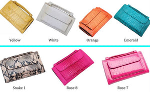 Cowhide Leather Day Clutch One Shoulder Cross-body Bag Small Crocodile Pattern Genuine Leather Clutch Chain Women's