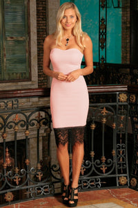 Club Dresses | Club Outfits | Party Dresses Dress, Club Dresses | Party Dresses | Pink Blush Strapless Sweetheart Summer Cocktail Bodycon Dress - Women - Clubbing Love