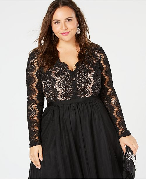 Club Dresses | Club Outfits | Party Dresses plus size, Plus Size Rare Beauty Lace Dress Women Ball Gown dresses Sexy V-Neck autumn Lace long Sleeve Dress Elegant Dress - Clubbing Love