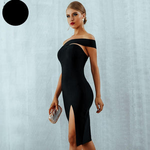 Club Dresses | Club Outfits | Party Dresses Weekly Special, Bandage Dress  Sexy Elegant One Shoulder Midi Celebrity Party Dresses Off The Shiukdwr - Clubbing Love