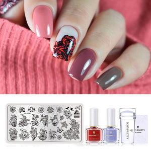Club Dresses | Club Outfits | Party Dresses Nail Polish, 05pcs Nail Art Stamp Stamping Templates Kit - Clubbing Love