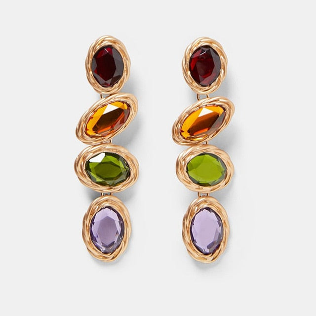 Club Dresses | Club Outfits | Party Dresses Jewelry, Multicolored Square Drop Earrings For Women Metal Dangle Shiny - Clubbing Love