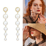 Club Dresses | Club Outfits | Party Dresses jewelry, Big Simulated Pearl Long Earrings Pearls String Statement Drop Earrings - Clubbing Love
