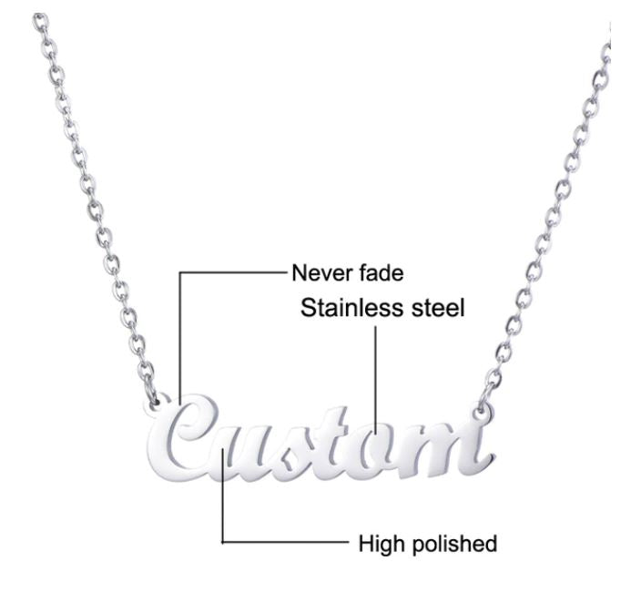 Club Dresses | Club Outfits | Party Dresses Name Necklace, Clubbing Love ™️ Original Custom Name Necklace (Limited Edition) - Clubbing Love
