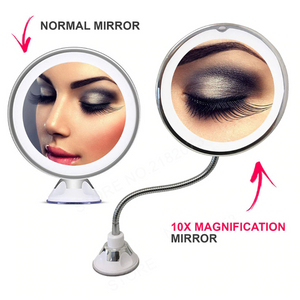 "Club Dresses | Club Outfits | Party Dresses 360 Rotation Flexible Shower Shaving Mirror, Flexible Gooseneck 6.8"" 10x Magnifying LED Lighted Makeup Mirror, Bathroom Magnification Vanity Mirror with Suction Cup, 360 Degree Swivel, Daylight, Battery Operated, Cordless & Travel Mirror - Clubbing Love"