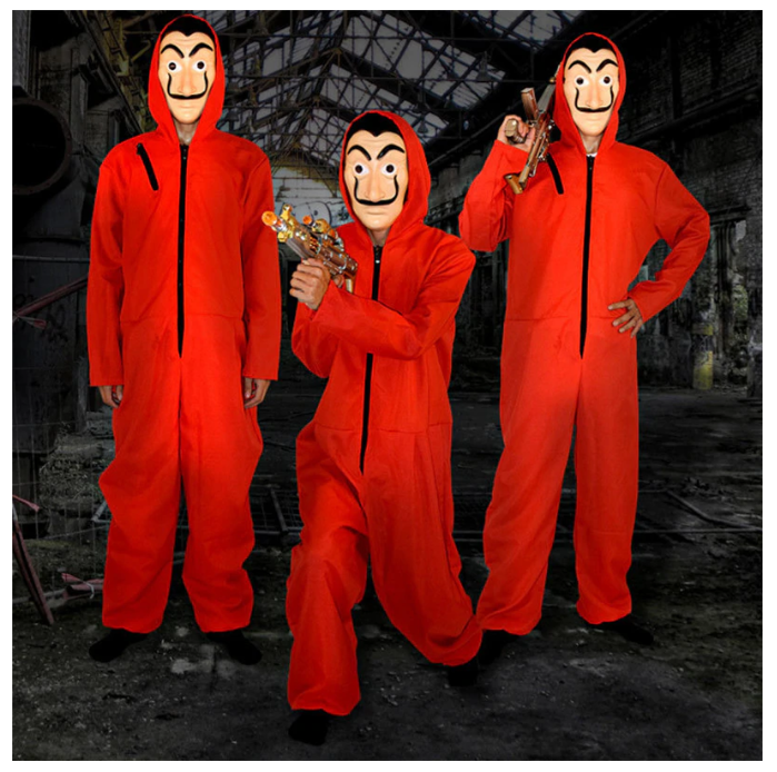 Club Dresses | Club Outfits | Party Dresses La Casa De Papel Cosplay Halloween Party Costumes with Face Mask Salvador Dali Movie Costume Money Heist The House of Paper, Salvador Dali Movie Costume Money Heist The House of Paper La Casa De Papel Cosplay Halloween Party Costumes with Face Mask - Clubbing Love