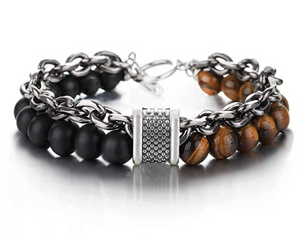 Natural Stone Beads Bracelet for Men Powerful Calming Stone