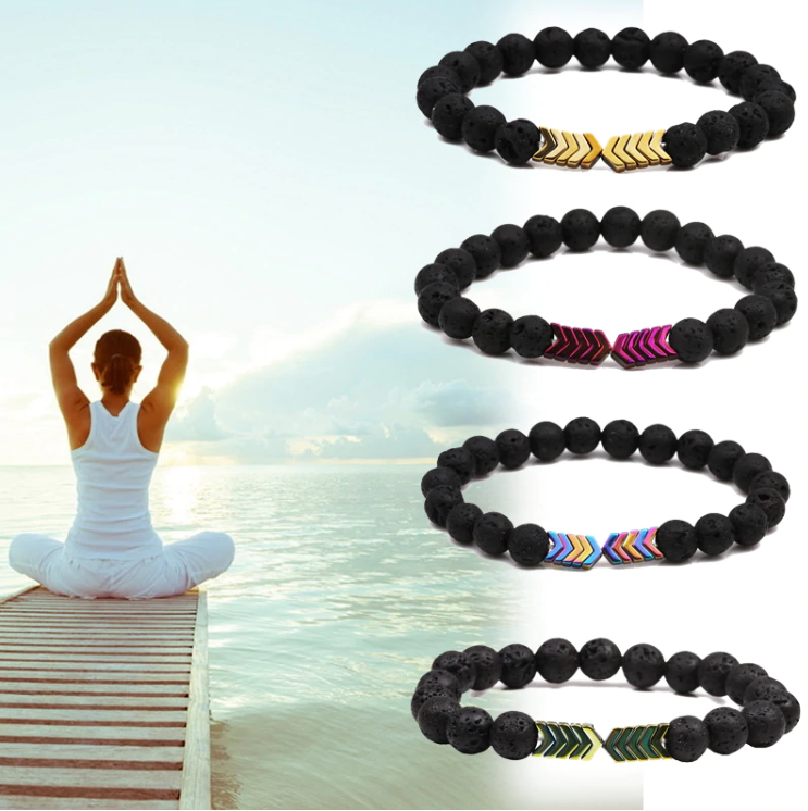 Club Dresses | Club Outfits | Party Dresses Lava Rock 7 Chakra Aromatherapy Essential Oil Diffuser Bracelet, Sacred Arrow Diffuser Bracelet by Clubbing Love ™️ - Clubbing Love