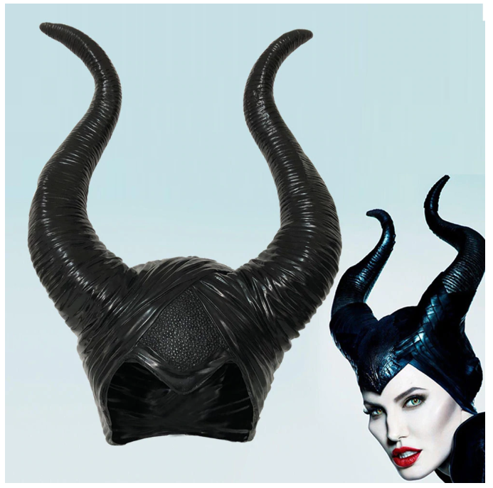 Club Dresses | Club Outfits | Party Dresses Disguise Women's Maleficent Costume Horns, 1x Maleficent Headpiece Costume Halloween Hat Maleficent Black Queen Horns - Clubbing Love