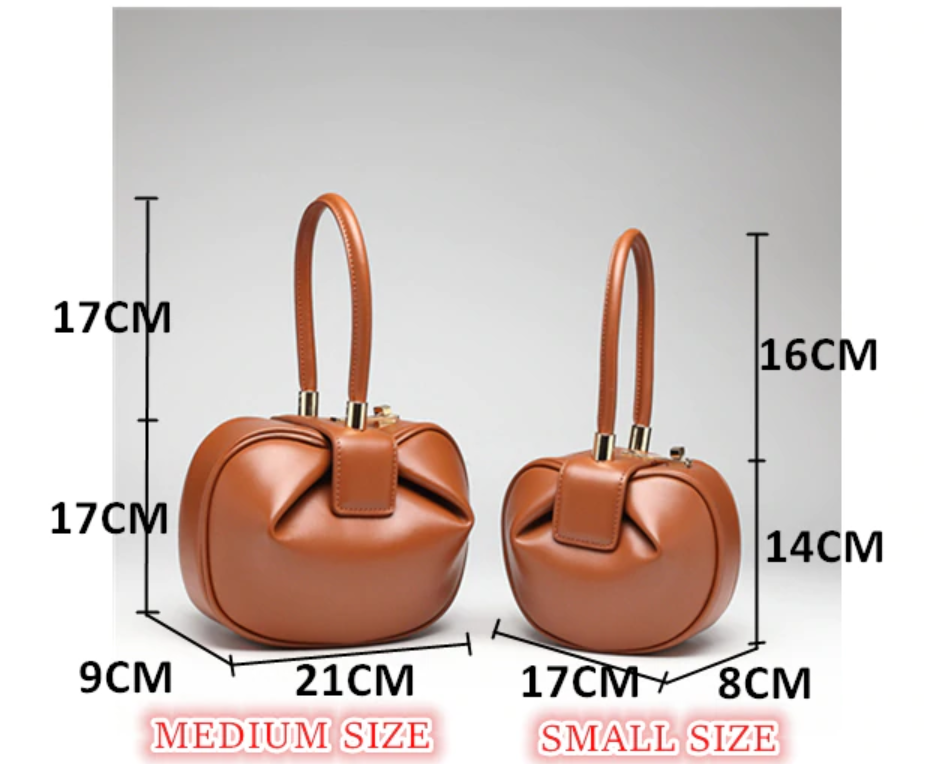 Club Dresses | Club Outfits | Party Dresses Top Handle Pillow Barrel Design Satchel Leather Handbags, Retro Genuine Leather Handmade Dumplings Satchel Women Handbags - Clubbing Love