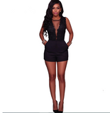 Club Dresses | Club Outfits | Party Dresses Sexy Lace Bodysuit, Women Deep V Sexy Lace Bodysuit Snap Crotch Lingerie Teddy Backless Embroidery Ladies Playsuits - Clubbing Love