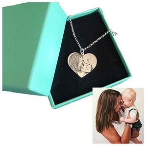 Club Dresses | Club Outfits | Party Dresses Personalized Photo Necklace Heart Shaped, You're in my Heart by Clubbing Love ™️ - Clubbing Love