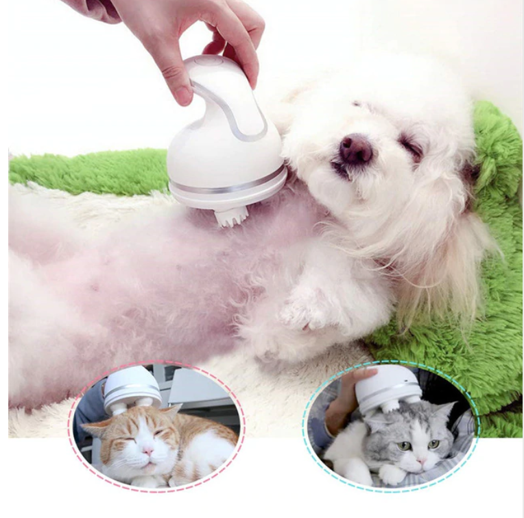 Club Dresses | Club Outfits | Party Dresses Pet Massager Cat Dog, Pamper Your Pet Massager 3D Head Massager Automatic Rotate Waterproof USB Charging - Clubbing Love
