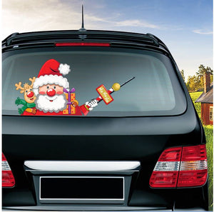 Christmas Waving Car Wiper Stickers by Clubbing Love ™️