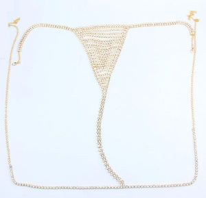 Club Dresses | Club Outfits | Party Dresses Under $9.99, Sexy Bikini Rhinestone Underwear Belly Chain Crystal Thong for Women - Clubbing Love