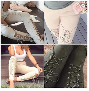 Lace-up Suede Leggings