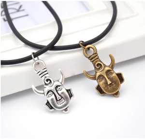 Supernatural Samulet Necklace | Dean Winchester's Protection Amulet on A Leather Cord | 2pcs