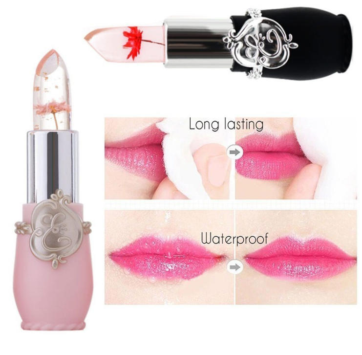 Club Dresses | Club Outfits | Party Dresses Flower Jelly Lipstick Temperature Change Moisturizer Flower Lip Stick, Flower Lipstick 💄💋 Mood Color Changing Lipstick Moisturizer Lip Gloss Balm - Clubbing Love
