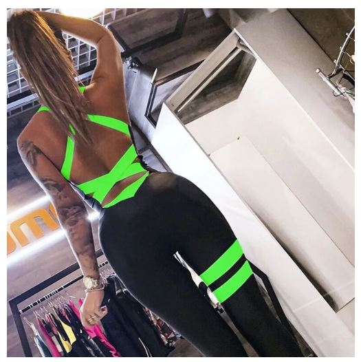 Club Dresses | Club Outfits | Party Dresses , Tight Yoga Bodysuit Sleeveless Backless Sexy Hollow Out Fitness Jumpsuit - Clubbing Love