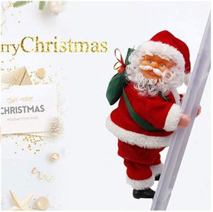 Musical Climbing Santa Claus Ornaments