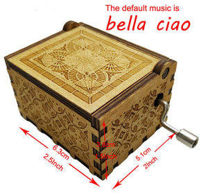 Money Heist Bella Ciao Music Box Hand Crafted
