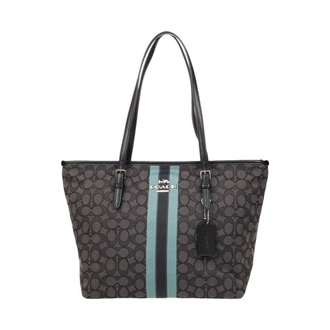 Image of Coach Signature Zip Tote Shoulder Handbag