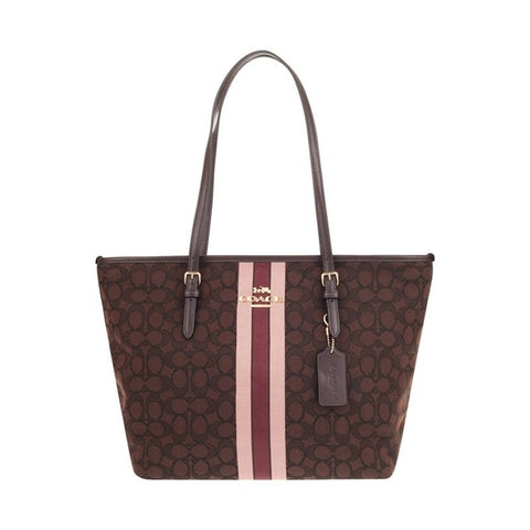 Coach Signature Zip Tote Shoulder Handbag