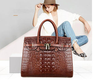 Women Crocodile Handbags Purses Satchel Office Padlock - Club Dresses | Party Dresses | Club Outfits. Club Dresses from ClubbingLove.com