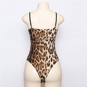 Club Dresses | Club Outfits | Party Dresses bodysuit, bodysuit women Deep Sexy Leopard body fitness sexy jumpsuits sleeveless catsuit - Clubbing Love