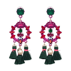 Club Dresses | Club Outfits | Party Dresses Jewelry, 4 pairs Charm Fringed Bijoux Luxury Pendant Tassel Statement Earrings Hot Sale - Clubbing Love