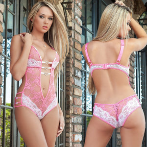Women's Lace Embroidery Bras Set Lace Lingerie Bra and Panties