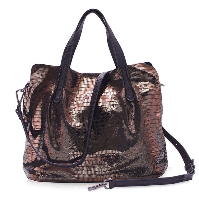 Club Dresses | Club Outfits | Party Dresses bags, 100% Genuine Leather Women's Handbag Luxurious Lizard Serpentine Pattern Composite Bag Portable shoulder messenger bags - Clubbing Love