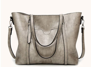 Women's Vintage Style Soft Leather Work Tote Large Shoulder Bag