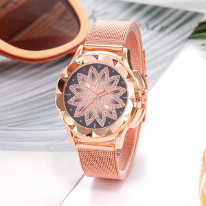 Club Dresses | Club Outfits | Party Dresses watches, Women's Quartz Rose Gold Flower Rhinestone Wrist Watches Luxury Casual Female Watch - Clubbing Love